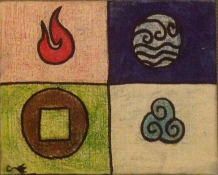 Four elements by Conshadow17