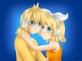 Rin Len Kagamine - Tenderly by LadyGalatee