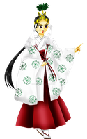 Rei in Miko of Wedding by anemoneploy
