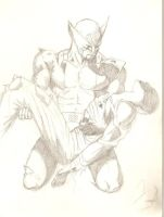 Wolverine with dead Banshee by 4182531