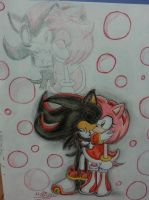 .:Art Trade:. Stolen Kiss (Shadamy) by Spring-violet1