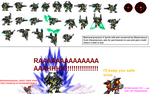 BlackWargreymon-X sprite sheet by Maxtyrannus