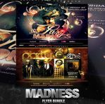 PSD Madness Flyer Bundle - 2in1 by retinathemes