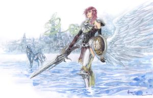Final Fantasy 13-2 Lightning, Champion Of Valhalla by Nick-Ian