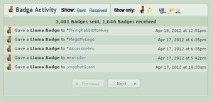Improved Badge Activity by NAkos