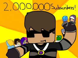 2,000,000 Subscribers! by ApplemintArts