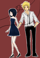 NaruSasu at the dance by NoticePart