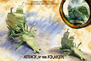 Attack of the Kraken Origami by NeptuneMOD