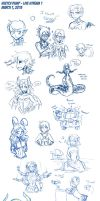 Sketch Dump - Live Steam March 7 2013 by Lorddragonmaster
