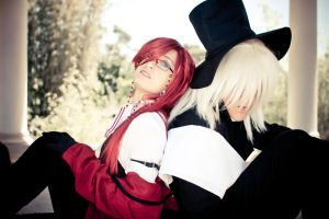 Grell and the Undertaker by MikeRollerson