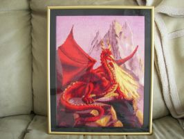 Red Dragon in Frame 2 by Sienea