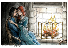 COM ~ Burning hearth by Songes-et-crayons