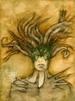 THE FACE OF DRYAD by lillian-fioretzi