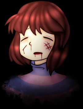frisk is ded . :COLLAB: . by NNEKO4