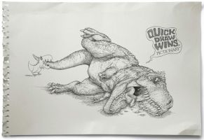 Quick Draw Wins: T-Rex by milxart