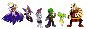 Super Paper Mario villains :3 by miju22