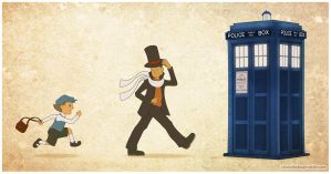 Professor Layton and the Puzzle of Time by neomeruru