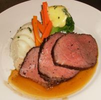 Roasted Top Sirloin Dinner by ChitteringFiend