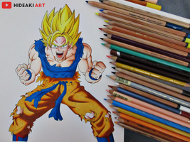 SSJ Goku || Dragon Ball Z by HideakiArtReal