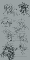 Kuroshitsuji Sketch Page part 1 by Simply-Psycho