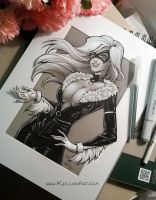 Black Cat Fan Art by KelleeArt