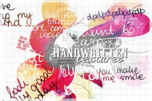 handwritten textures by francesdotcom