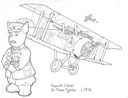 Flying Pigs Coloring Book: Camel by Barkon68