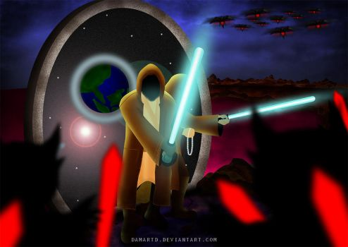 Muslim Jedi Protect The World form Darkness by damartd