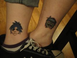 Gorillaz Tattoos by Psycho7772