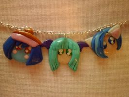 Darkstalkers Button Charms by delicioustrifle