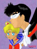 SAILOR MOON AND TUXEDO MASK 3 by Lucyy