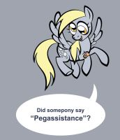 Dr Whooves and Pegassistant by toonbat