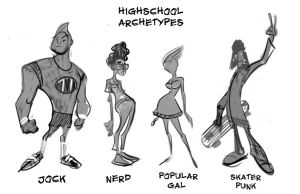 HIGHSCHOOL ARCHETYPES CD'S by TOBY71