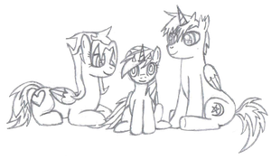 Cutie, Woona and Scoots by CutesieArt