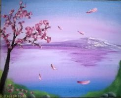 Sakura Lake by screameo4