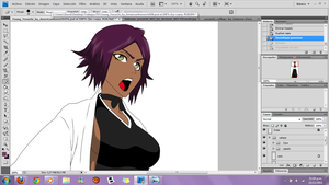 WIP - young yoruichi by blackberri