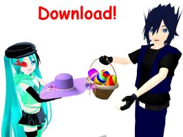 Easter eggs basket DOWNLOAD by RiSama