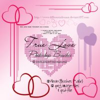 True Love : Heart Brushes by differentxdreamz
