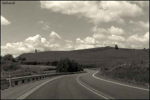 Road - Black and White by G-Ghofran