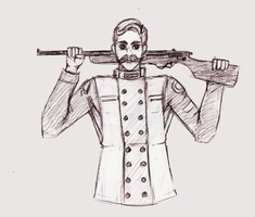 Daily Doodle #85 - Rifleman by Mr-Sage