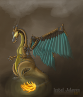 REDONE - Powered by Steam - Charizard by issabissabel