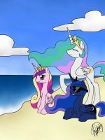 A Day At The Beach by o0VinylScratch0o