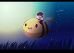 Honey and the Bee by MidnightFrog