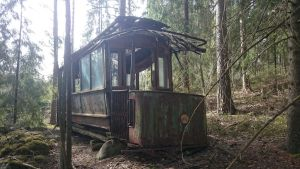 Tram in the Forest by Monarth