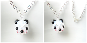 Panda Necklace by SparkleMeHappy