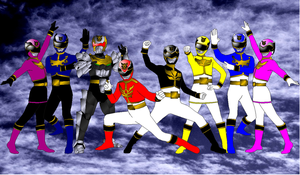 Goseigers for Pikatwig by rangeranime