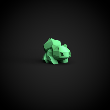 Low Poly: Bulbasaur by InkTheory