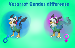 Vocarrot Gender difference by Pokekawaii