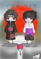 The Uchiha Brothers XD by Jibari-chan