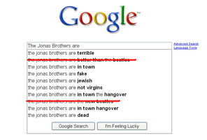 Google Hates Jonas Brothers by wintercool612